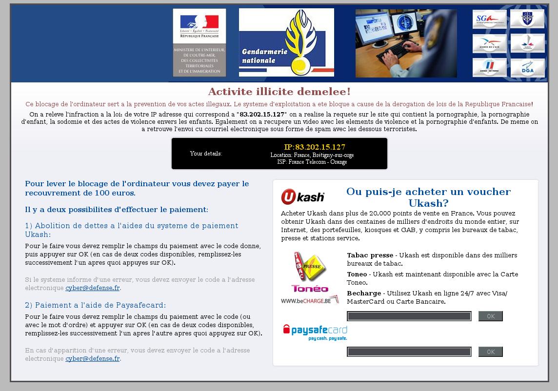 virus gendarmerie nationale  sacem   solutions et